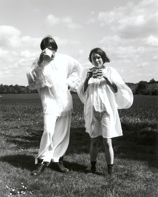 Don Brown with Sarah Lucas, Suffolk, 2003