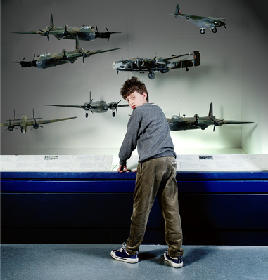 Boy with Fighter Planes, The Science Museum, London, 2000