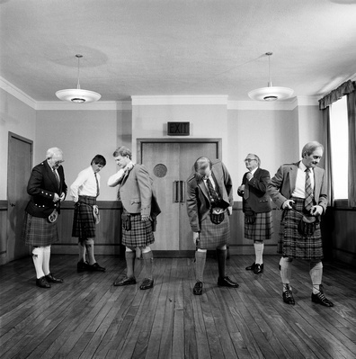 Scottish Business Men in Kilts, Scotland, 1987