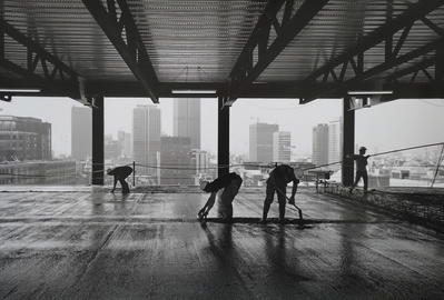 Concrete Workers, Broadgate, London, 1989
