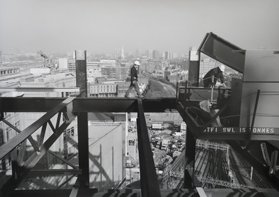 Steel Workers, Broadgate, London, 1989