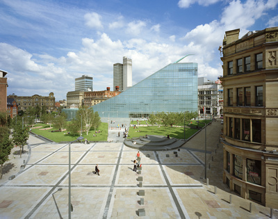 Urbis and Cathedral Gardens, Manchester, 2002