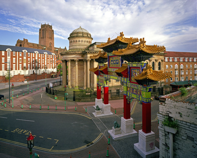 Chinese Arch & Blackie, Nelson Street, Ropewalks, Liverpool,...