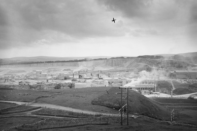 Tunstead Quarry & military aircraft, Buxton, Derbyshire, 198...