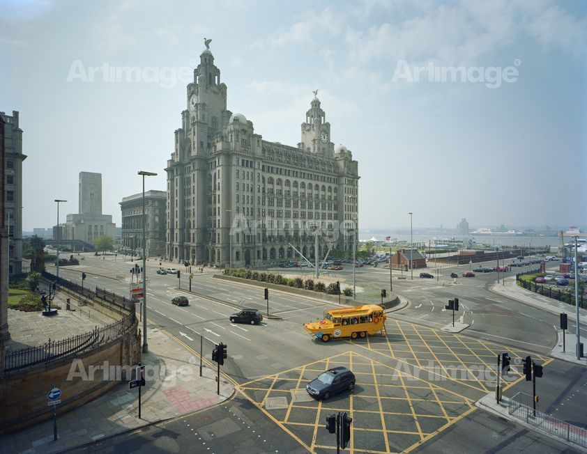 Blitz Memorial and Liver Building, Liverpool, 2003