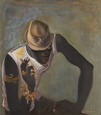 Black Guy in Fedora, 2014 By John Byrne