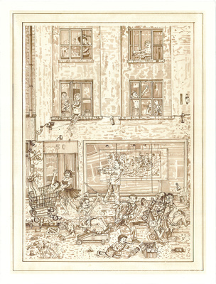 A Redchurch Street Rakes Progress 4, 2009 By Adam Dant