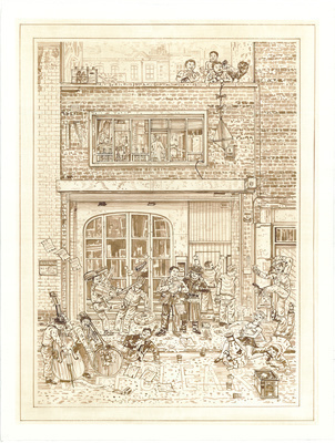 A Redchurch Street Rakes Progress 1, 2009 By Adam Dant
