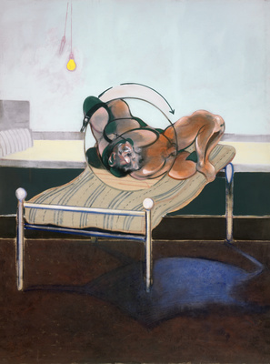 Three Studies of Figures on Beds, 1972 (left panel) By Francis Bacon