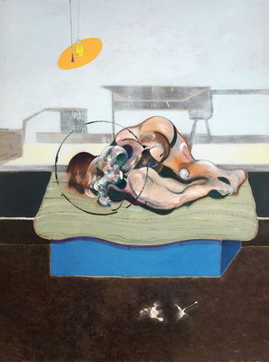 Three Studies of Figures on Beds, 1972 (centre panel) By Francis Bacon