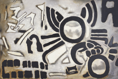 Sun Hieroglyph (Olmec-Maya), 1982  By Aubrey Williams