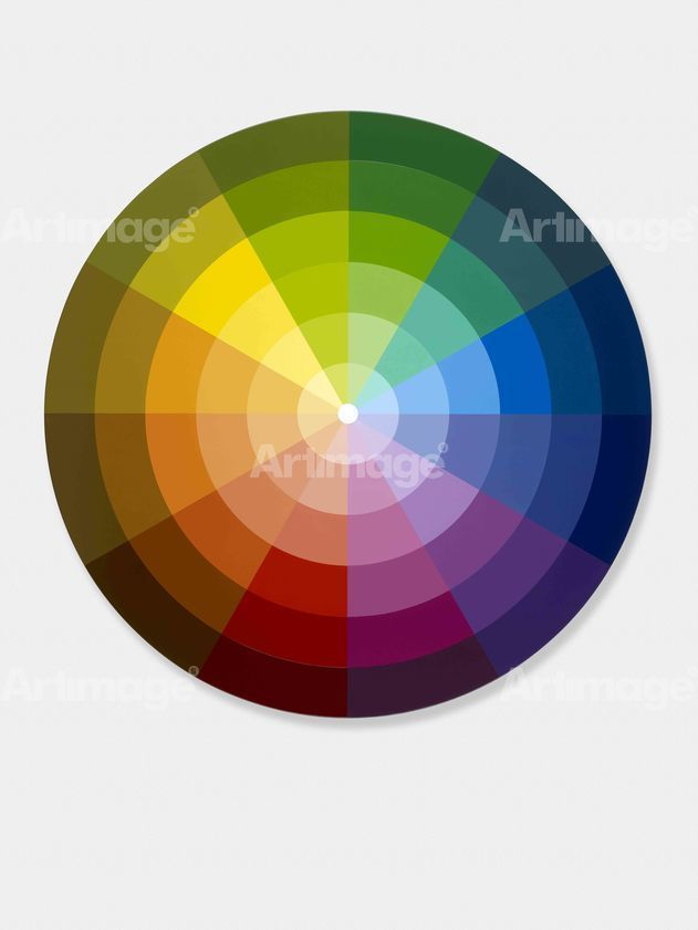 "alt=""Monochromatic Sectors from Primary, Secondary & Tertiary Colour Ring, Light Centre, 2012"""