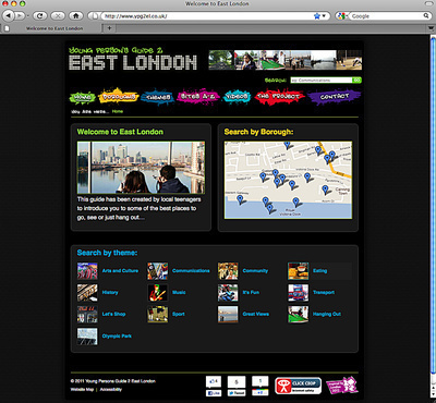 The Young Person's Guide to East London, Home Page, 2012