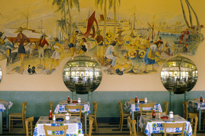 Butlin's holiday camp, Filey, Yorkshire: dining room, 1972