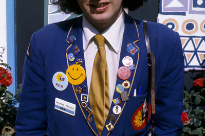 Butlin's holiday camp, Filey, Yorkshire: badges, 1972 By Daniel Meadows