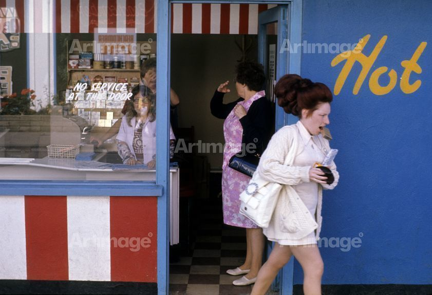 Enlarged version of Butlin's holiday camp, Filey, Yorkshire: shop, 1972