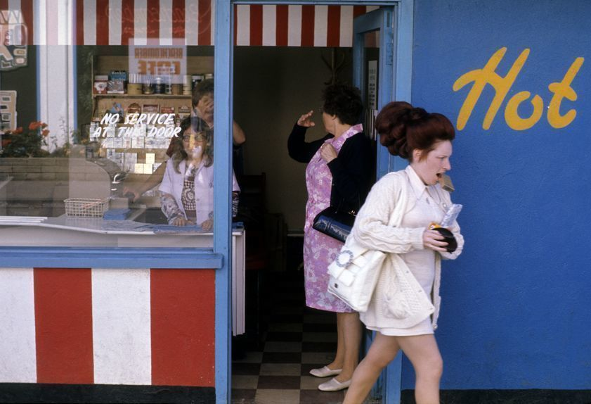 Butlin's holiday camp, Filey, Yorkshire: shop, 1972
