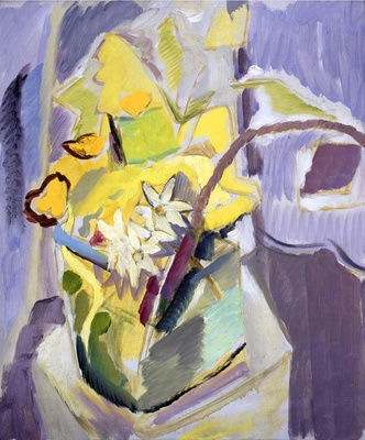 Early Spring Flowers in a Glass Vase, c.1930