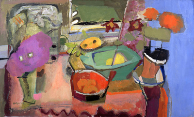 Still Life with Fruit & Potted Plants, c. 1935