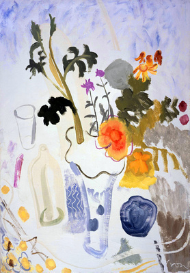 Still Life of Summer Flowers with Glass, c.1932