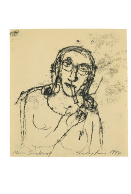 Mum Smoking, 1994  By Tracey Emin