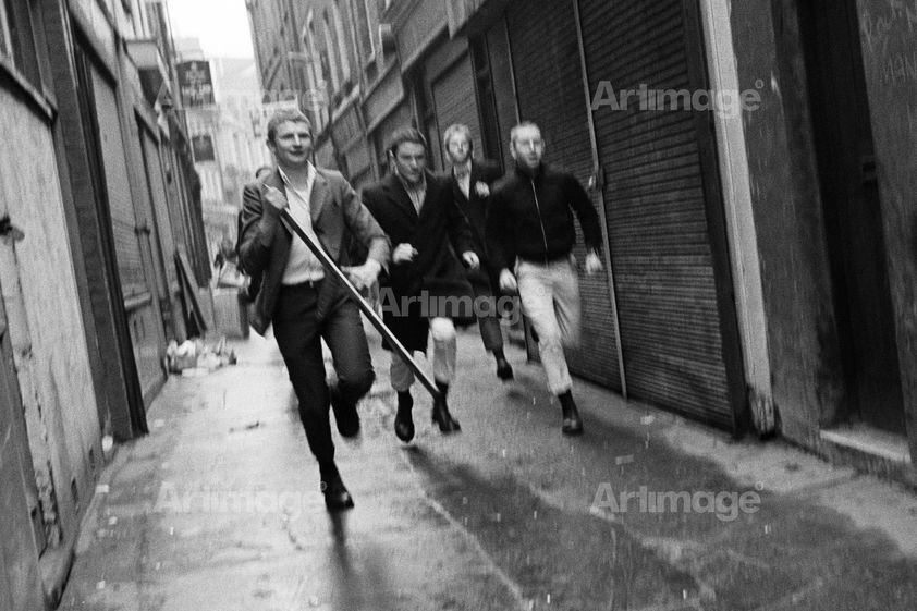 Enlarged version of Artillery Passage, 1979. Eastender series