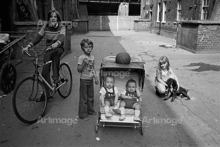 Enlarged version of Sheba Street, 1974. Eastender series