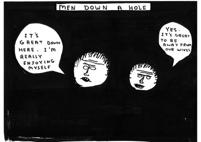 Untitled (Men down a hole), 2006