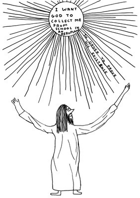 Untitled (I want God), 2007 By David Shrigley