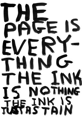 Untitled (The page is everything), 2010