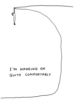 Untitled (Hanging on), 2011 By David Shrigley