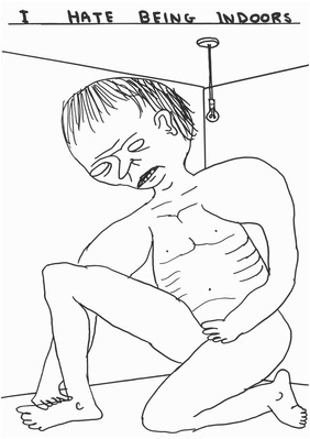 Untitled (Being indoors), 2012 By David Shrigley
