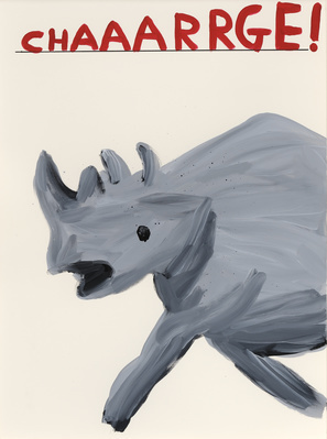 Untitled (Chaaarrge!), 2012 By David Shrigley