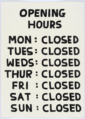 Untitled (Opening hours), 2015