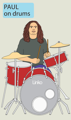 Going South Paul on drums, 2003