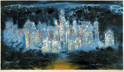 Harlaxton Blue, 1977 By John Piper