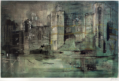 Caernarvon Castle ll, 1971 By John Piper