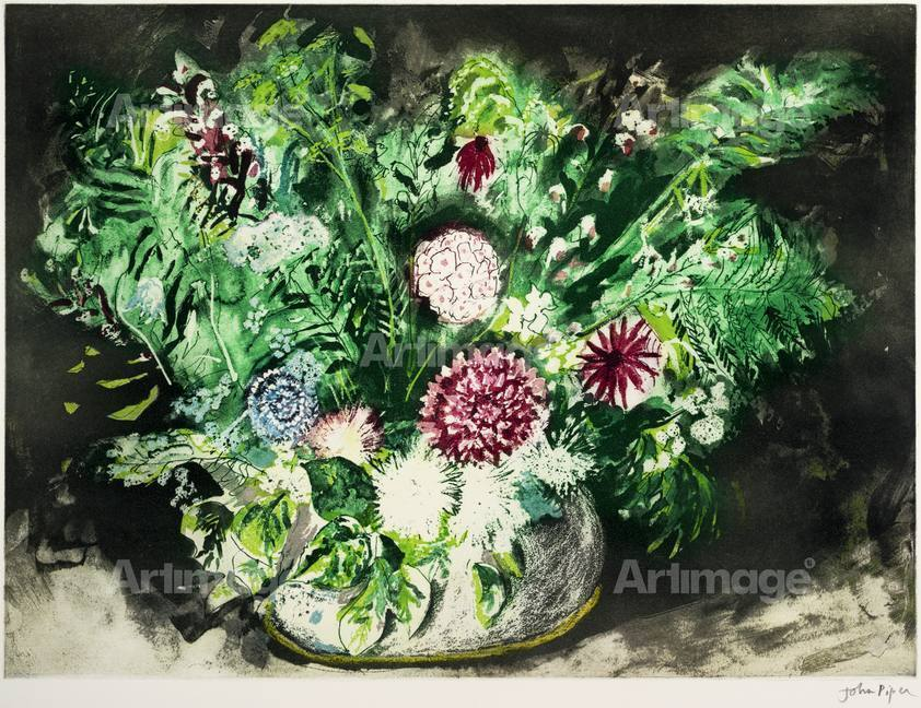Enlarged version of Dahlias and Ferns, 1987