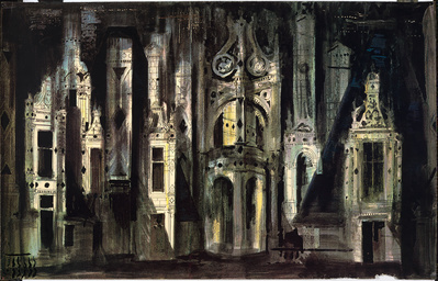 Roof at Chambord, 1973 By John Piper