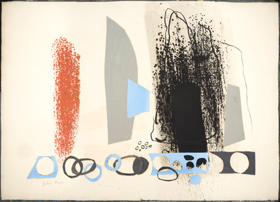 Abstract Collage with Blue and Orange, c.1962 By John Piper
