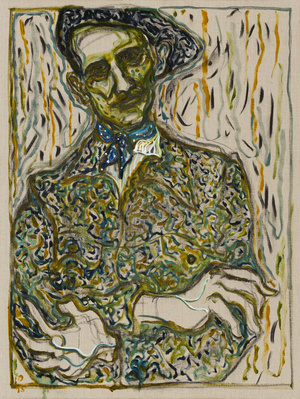 self portrait under mammoth tree, aachen, 2015 By Billy Childish