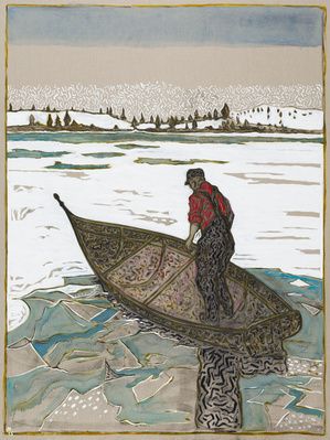alasken fishing boat, 2014 By Billy Childish