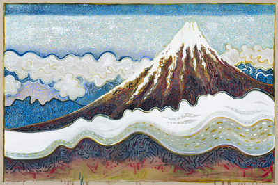 mount fuji with cloud (after hiroshige), 2014
