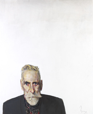 Self Portrait on White, 2012 By John Byrne