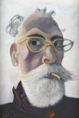 Self Portrait in Gold-tinted Glasses, 2016 By John Byrne
