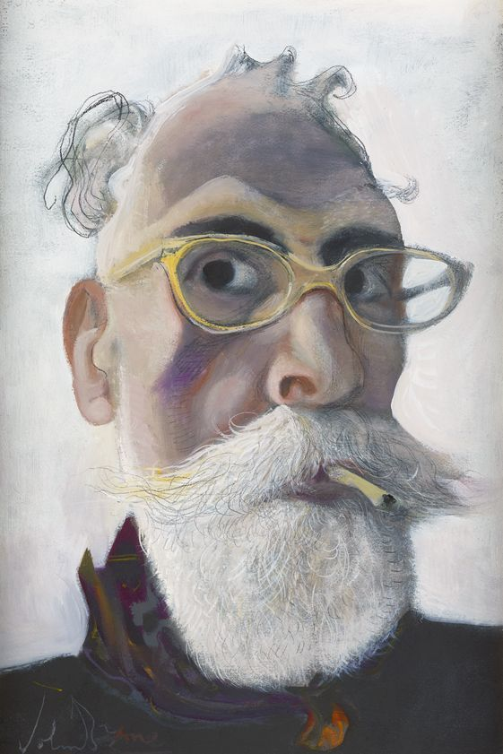 Self Portrait in Gold-tinted Glasses, 2016