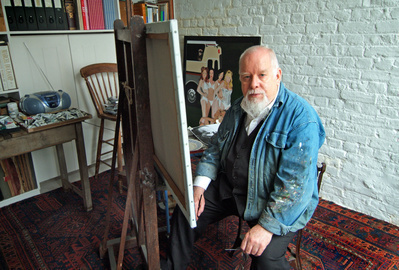 Sir Peter Blake, studio, London, 2005 By Anne-Katrin Purkiss