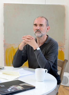 Christopher Le Brun, studio, London, 2012
