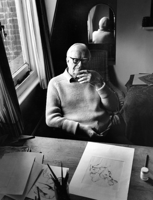 Bernard Meadows, at home, London, 1994