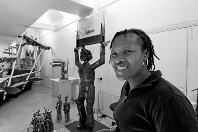 Sokari Douglas Camp, studio, London, 2005 By Anne-Katrin Purkiss